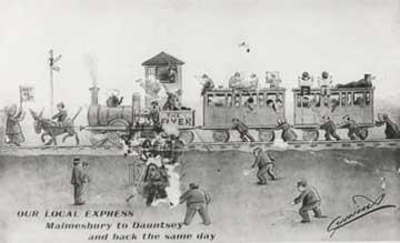 Malmesbury railway line Blount and Maslin