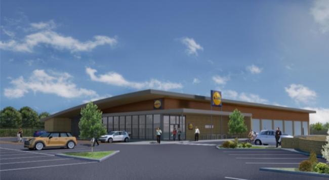 CGI of proposed Lidl Supermarket